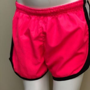 Girls Active Pink Short with Breathable Sides